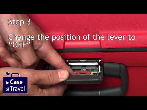 How to set the lock code on a Samsonite Aeris basic (and other cases without TSA)