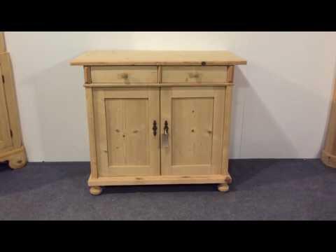 Antique Pine Dresser Base / TV Cupboard - Pinefinders Old Pine Furniture Warehouse