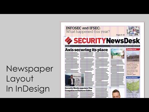 How to design a newspaper: Newspaper layout in InDesign