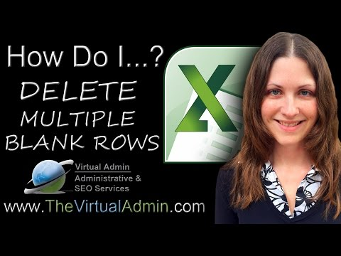 Microsoft Excel - How To Delete Multiple Rows - TheVirtualAdmin.com