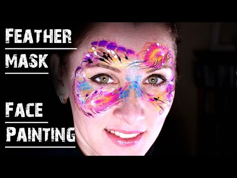 Peacock feather mask Face Painting