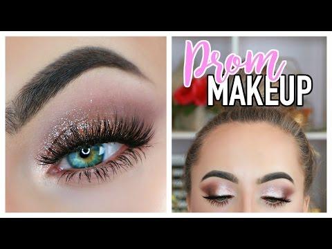Classic Prom Makeup Tutorial 2017   Smokey Glitter Eyes