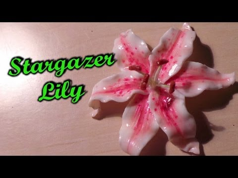 Polymer Clay Flowers; Stargazer Lily Tutorial