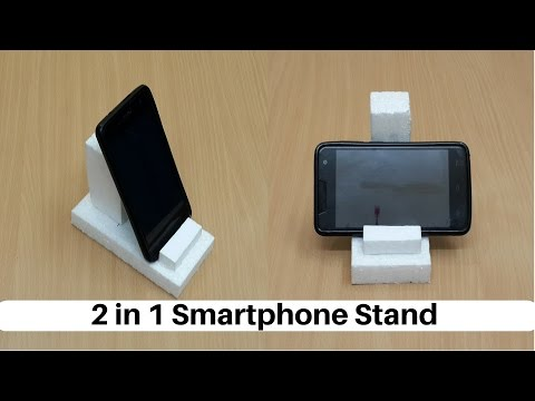 How to Make a 2 in 1 Smartphone/Tablet Stand from Thermocol - DIY