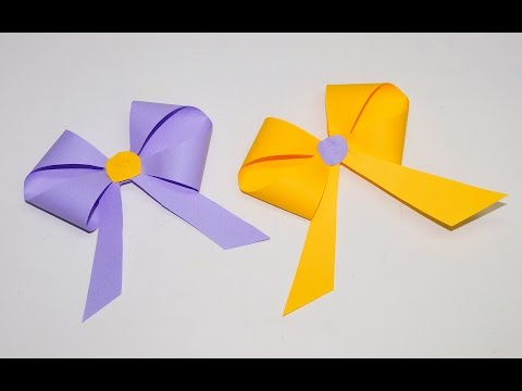 How to make a paper Bow/Ribbon | Easy origami Bow/Ribbons for beginners making | DIY beauty and easy