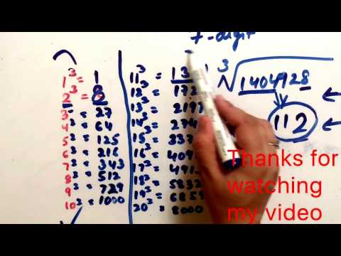 cube root of 7 digit number