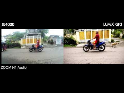 LUMIX GF3, SJ4000 & ZOOM H1 on a DIY stabilizer