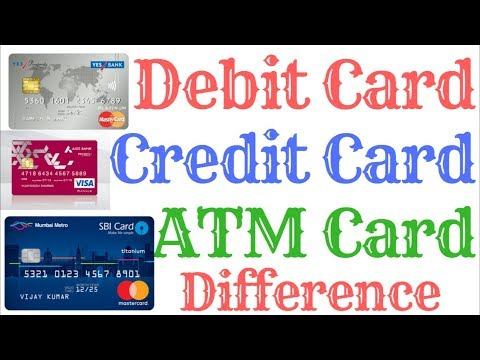 Debit Card Credit Card ATM CARD   Difference.