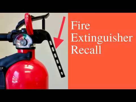 Fire Extinguisher Recall