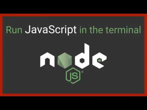 Run JavaScript in the terminal - Node.js