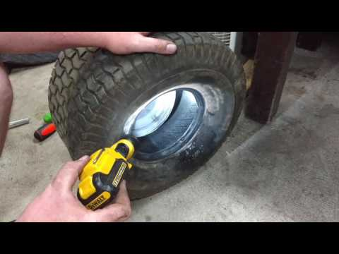 How to: Install tube in lawn mower tire