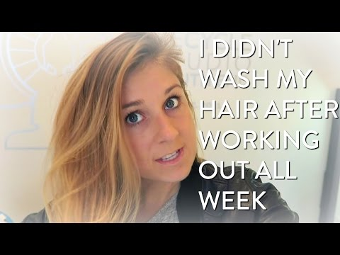 VLOG | I Didn't Wash My Hair For A Week After Working Out, This Is What Happened