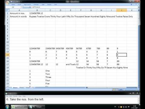 Numbers to words in excel without macro the easy way