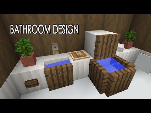 New Water Physics - Bathroom Concept - Shower, Toilet, Sink - Minecraft 1.13