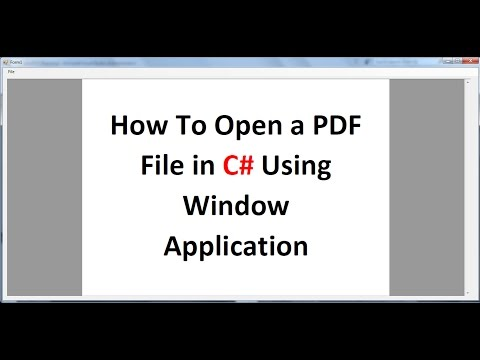 How To Open a PDF File in C# Using Window Application