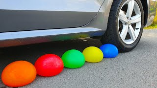 Crushing Crunchy & Soft Things by Car  Experiment Car vs Water in Balloons