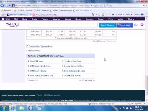 Mr Joyce - Downloading Historical Stock Quotes from Yahoo Finance in Java - ICTP12