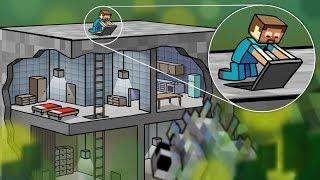 Minecraft | TINY SECRET BASE CHALLENGE - Top Secret Bunker! (DEFEND OR DIE)