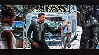 Black Panther (2018) T'Challa and Shuri \