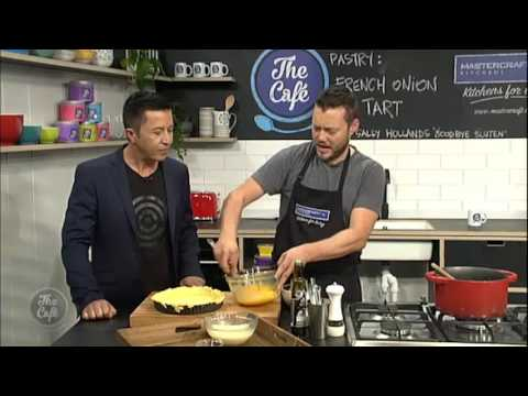 Mark Southon bakes up a Gluten Free French Onion Tart with Cream Cheese Pastry