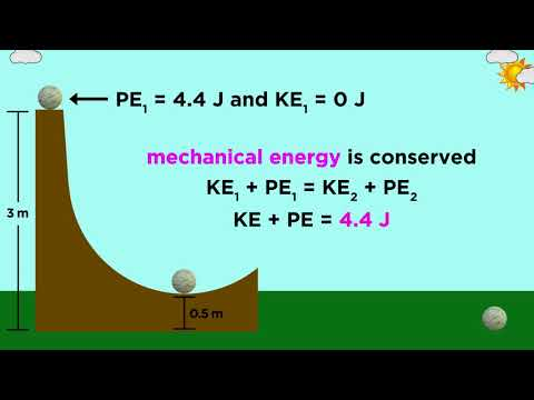 Practice Problem: Kinetic and Potential Energy of a Ball on a Ramp