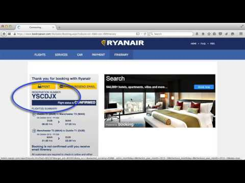 How to Book a Ryanair Flight – Part 5 – Booking confirmation and email receipt