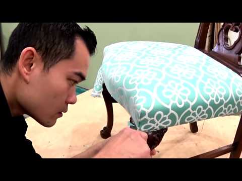 HOW TO REUPHOLSTER A CHAIR SEAT - ALO Upholstery