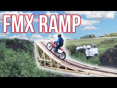 WE BUILT OUR OWN FMX RAMP!!!