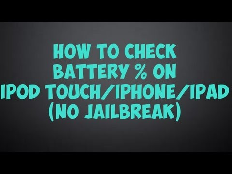 How To Check Battery Percentage on iPod Touch/iPhone/iPad (No Jailbreak)