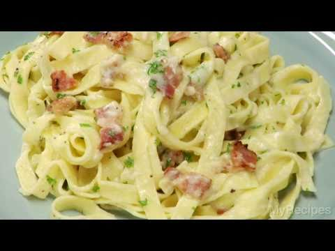 How To Make Fettuccine Alfredo with Bacon In 20 Minutes | MyRecipes