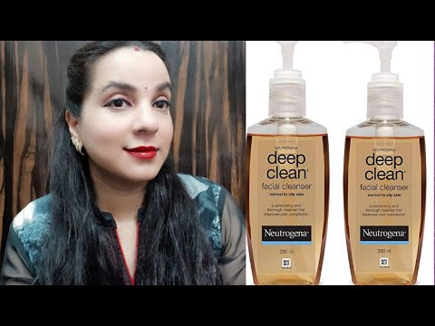 Neutrogena deep clean Face Wash REVIEW in Hindi