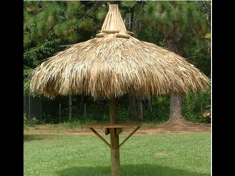 build a single pole tiki hut