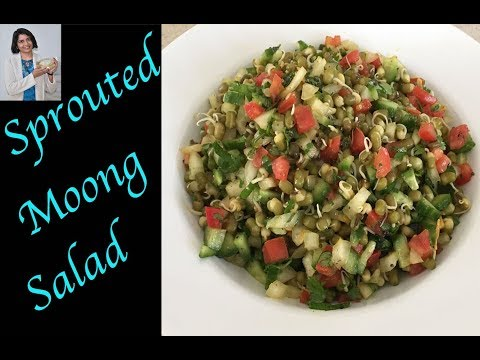 Sprouted Moong Salad By Bhanu Patel...Eat Healthy, Stay Healthy