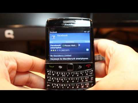 Facebook install to Blackberry Bold 9780