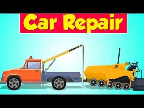 Tow Truck Garage | Asphalt Paver | Construction Vehicle | Car Repair