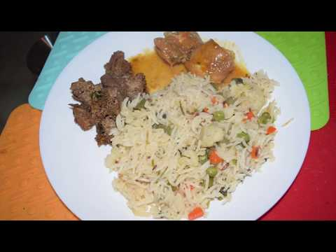 Veg Pulao In Electric Cooker