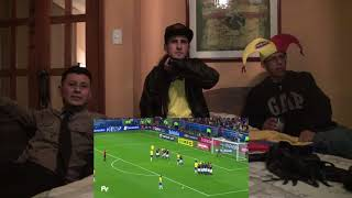 BRASIL VS ECUADOR / REACCIONES HINCHA ECUATORIANO