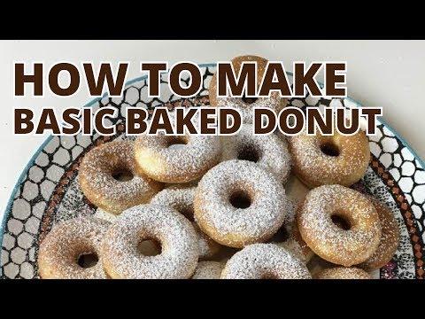 Masak #3 - How to Make Basic Baked Donut