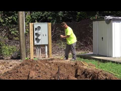 This is the very first step in developing a site for a brand new manufactured home!