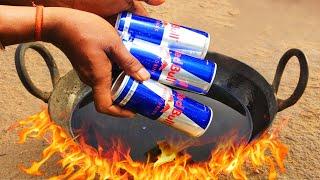 Red Bull vs Hot oil Experiment