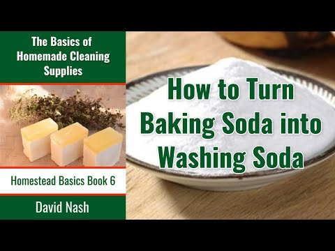 How to Convert Baking Soda into Washing Soda