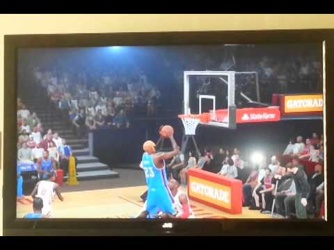 How to catch and dunk a alley oop on NBA 2k15