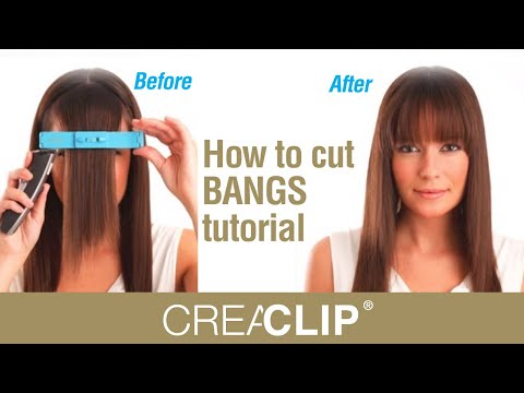 How to cut BANGS tutorial -Straight, textured and Side swept bangs