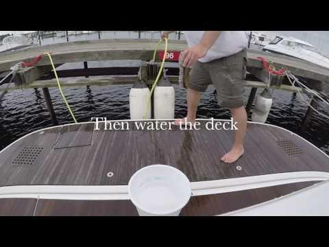 How to clean boat teak deck - Boating Season 2017 - V0013