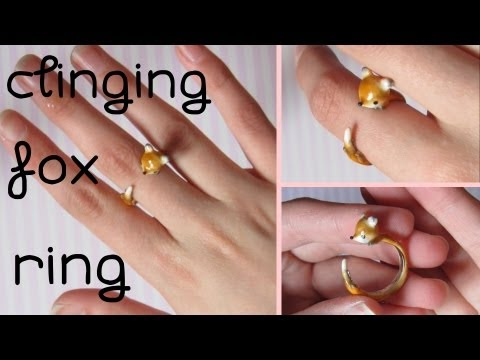 Clinging Fox Ring Tutorial: Polymer Clay