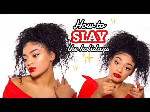 HOLIDAY MAKEUP LOOK | HOW TO SLAY | jasmeannnn