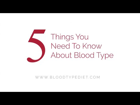 5 Things You Need To Know About Blood Type