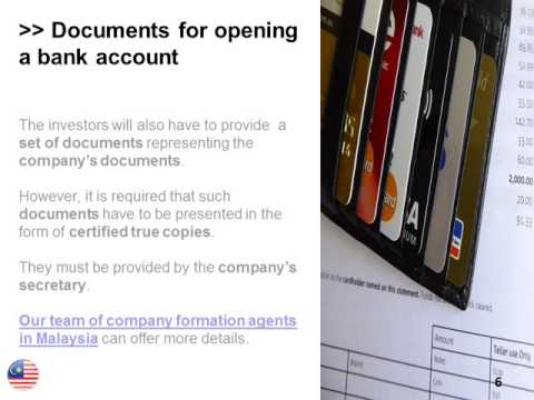 Open a Bank Account in Malaysia