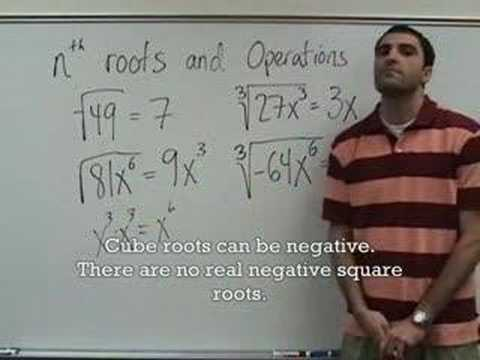 Algebra 2 - nth Roots and Operations on Radicals