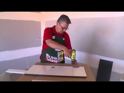 How To Hang Corner Cabinet Doors - DIY At Bunnings